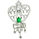 SELECT JEWELRY Emerald / diamond brooch Platinum PT900 ladies fs04gm