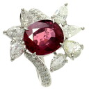 SELECT JEWELRY Ruby and diamond ring-rings-Platinum PT900 ladies upup7