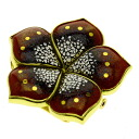 SELECT JEWELRY mother-of-pearl (lacquer) broach K18 gold Lady's upup7
