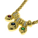 SELECT JEWELRY sapphire / ruby / emerald / diamond necklace K18 gold Lady's upup7