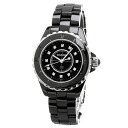 CHANEL J12 12P diamond watch ceramic Lady's upup7