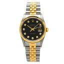 ROLEX date just 16233G watch stainless steel /YG men upup7