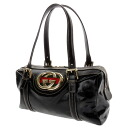 GUCCI interlocking grip mini-Boston handbag enamel Lady's upup7