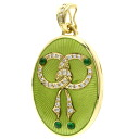 SELECT JEWELRY emerald / diamond pendant K18 gold Lady's upup7