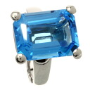 SELECT JEWELRY blue topaz ring, ring K18 white gold Lady's upup7