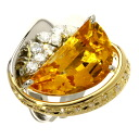 SELECT JEWELRY citrine / diamond ring, ring platinum PT900/K18 Lady's upup7