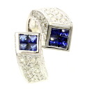 SELECT JEWELRY sapphire / diamond ring, ring K18 white gold Lady's upup7