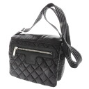 CHANEL here cocoon Small messenger shoulder bag nylon x leather Lady's upup7