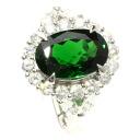SELECT JEWELRY グロッシュラーガーネット / diamond ring, ring platinum PT900 Lady's upup7