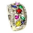 It is ring K18 white gold Lady's upup7 SELECT JEWELRY multi-ring