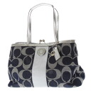 COACH signature pattern shoulder bag canvas x patent leather women's upup7
