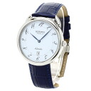 Authentic HERMES Arceau Watch Stainless Navy blue leather an automatic Men