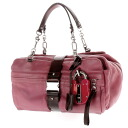 Authentic LOEWE  Mini Boston Bag Shoulder Bag Leather