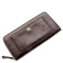 Authentic COACH  Zip Around Wallet (With Coin Pocket) Long Wallet Leather