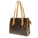 Authentic LOUIS VUITTON  Popincourt Haut M40007 Handbag Monogram canvas