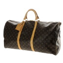 Authentic LOUIS VUITTON  Strap Keepall 50 M41416 Boston bag Monogram canvas