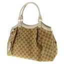 GUCCI GG pattern tote bag canvas x Leather Womens upup7