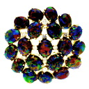 SELECT JEWELRY composition opal / diamond broach K18 gold Lady's upup7