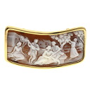 Cameo Brooch 18K Gold  14.2g