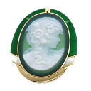 SELECT JEWELRY cameo broach K18 yellow gold Lady's upup7