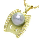 0.16ct Pearl Necklace 18K yellow gold  9.5g