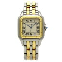 Authentic CARTIER PANTHERE MM 2ROW Watch Stainless Gold Plated Quartz Men