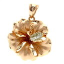 Flower motif Pendant top Necklace K14 Pink Gold  8g