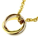 Authentic CARTIER  Trinity Necklace 18K Gold