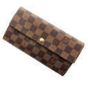 LOUIS VUITTON ポルトフォイユ Sarah M61734 long wallet (there is a coin purse) ダミエキャンパスレディース upup7