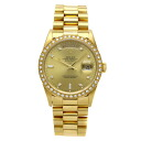 Authentic ROLEX Day Date 18348A Watch 18K yellow gold  an automatic Men