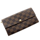 Authentic LOUIS VUITTON  M61734 06 new Portefeiulle · Sara (With Coin Pocket) Long Wallet Damier canvas