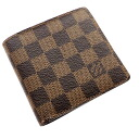 Authentic LOUIS VUITTON  Portefeiulle · Marco N61675 Bifold Wallet with Coin Pocket Damier canvas