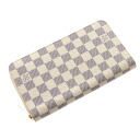 Authentic LOUIS VUITTON  Zippy Organizer N60012 (With Coin Pocket) Long Wallet Damier canvas