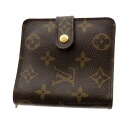 Authentic LOUIS VUITTON  Compact round zip fastener M61667 Bifold Wallet with Coin Pocket Monogram canvas