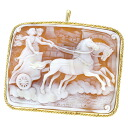 SELECT JEWELRY cameo broach K18 gold Lady's upup7