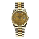 Authentic ROLEX Day-Date 18239A BIC Toridoru 10P diamond Overhauled Watch 18K Toridoru  an automatic Men