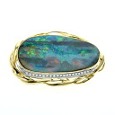 52.8ct Opal Brooch 18K yellow gold Pt900 24.5