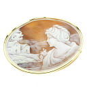 Cameo Brooch 18K Yellow Gold  15.3