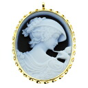 Cameo Brooch 18K Yellow Gold  8.8