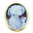 Cameo Brooch 18K yellow gold  8.3