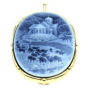 Cameo Schmitt Brooch 18K Yellow Gold  18.1