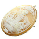 1.41ct Cameo Brooch K14 White Gold  22.5
