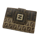 Authentic FENDI  Zucchino / Zucca Bifold Wallet with Coin Pocket PVC