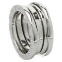 Authentic BVLGARI  B over zero1 S # 48 Ring 18K White Gold