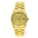 Authentic ROLEX 18238G Watch 18K yellow gold SS an automatic Men