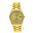 Authentic ROLEX Only 18348A Overhauled Watch 18K yellow gold SS an automatic Men
