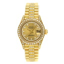 Authentic ROLEX 69158G Watch 18K yellow gold SS an automatic Women