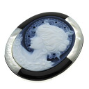 SELECT JEWELRY cameo broach K18 white gold /K14WG Lady's upup7
