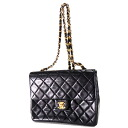 Authentic CHANEL  Matelasse stitch Shoulder Bag Leather