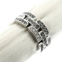 3 54 CARTIER Bakery tail low / diamond # rings, ring K18 white gold Lady's upup7